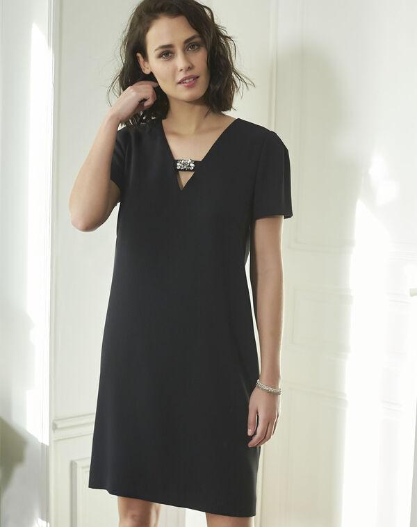 Noel Jeweled Black Dress (1) - 1-2-3