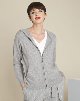 Bowling cashmere wool cardigan light chine.