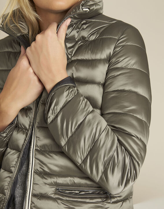 Pepite short iridescent taupe down jacket (3) - 1-2-3