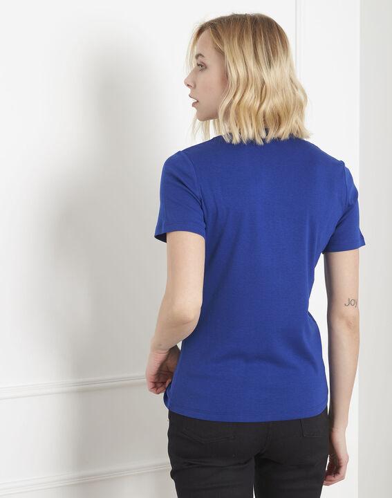 Tee-shirt bleu biais lurex Priscille (4) - Maison 123