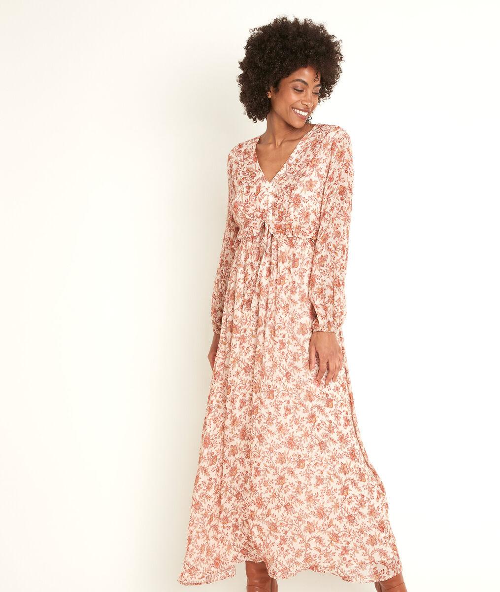 Robe longue imprimée Nao PhotoZ | 1-2-3