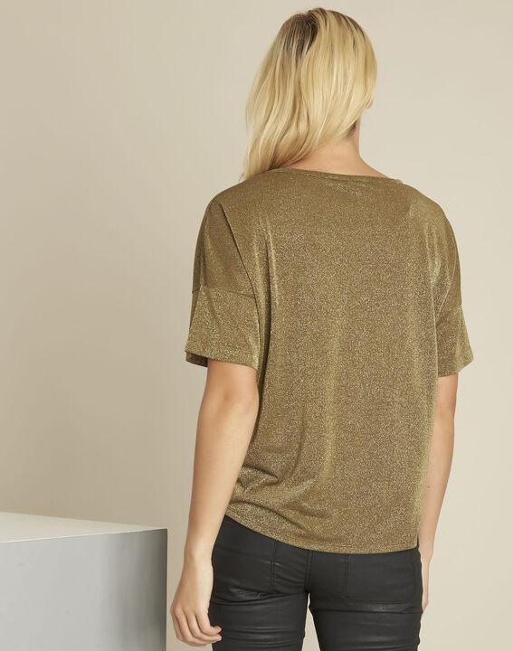 Galway khaki lurex t-shirt (4) - 1-2-3