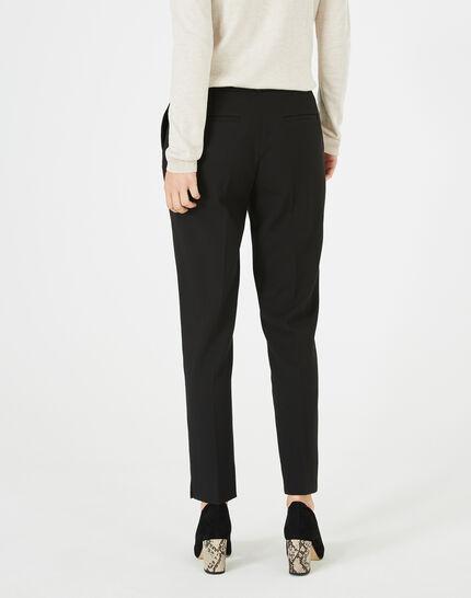 Pantalon jacquard noir Vanille (5) - 1-2-3