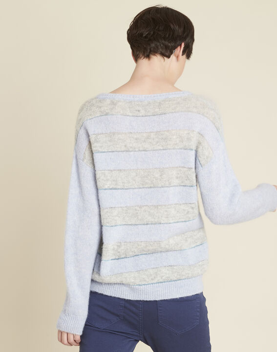 Bound alpaca and cool striped azure sweater (4) - 1-2-3