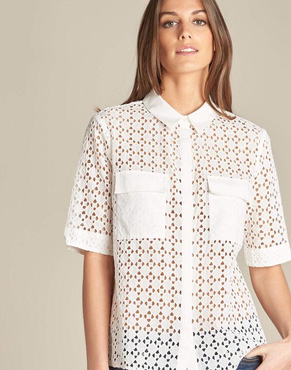 Gisele ecru lace blouse in 100% cotton PhotoZ | 1-2-3