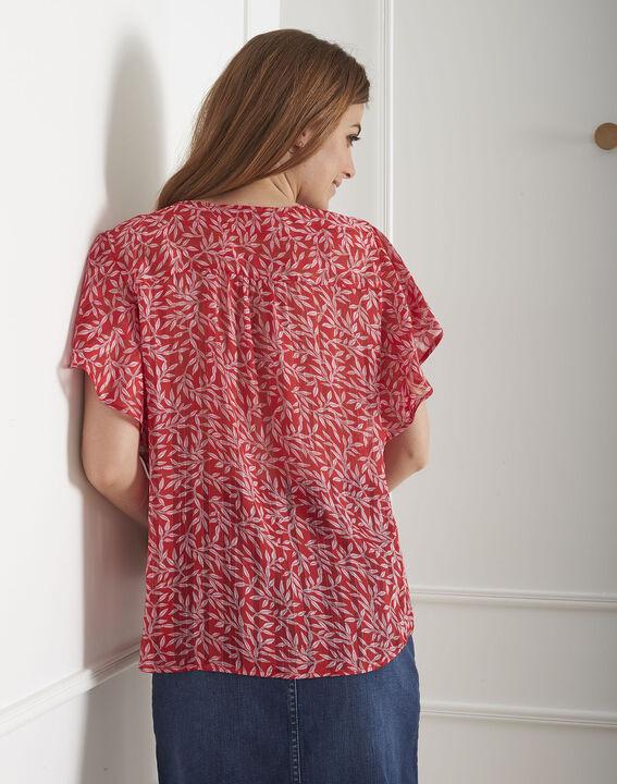Blouse rouge imprimé brillant Valencia (3) - Maison 123