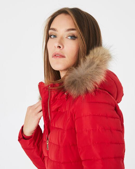 Doudoune rouge courte à capuche Rosie (1) - 1-2-3