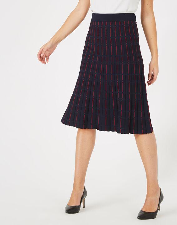 Fado navy blue knit dance skirt (3) - 1-2-3