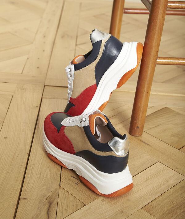 Baskets compensées en cuir Nina PhotoZ   1-2-3