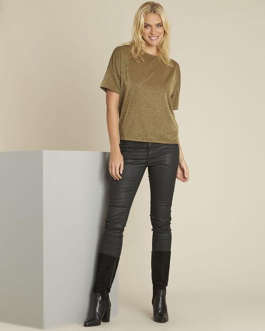 Kaki lurex shirt Galway (1) - 37653