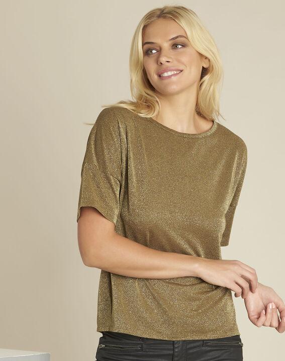 Galway khaki lurex t-shirt (1) - 1-2-3