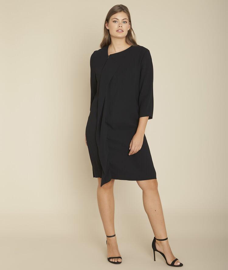 Onwijs Zwarte jurk met rits en volant vooraan Irene Dames | Maison 123 RJ-24
