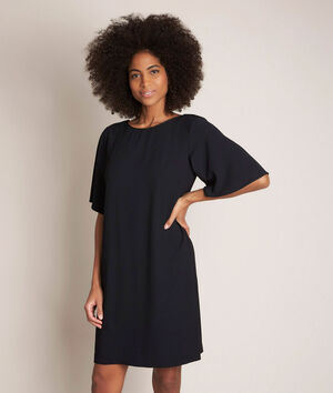 Zwarte straight-fit jurk Celia