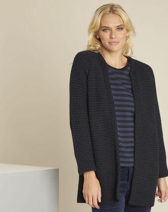 Veste noire laine mélangée boby schwarz.