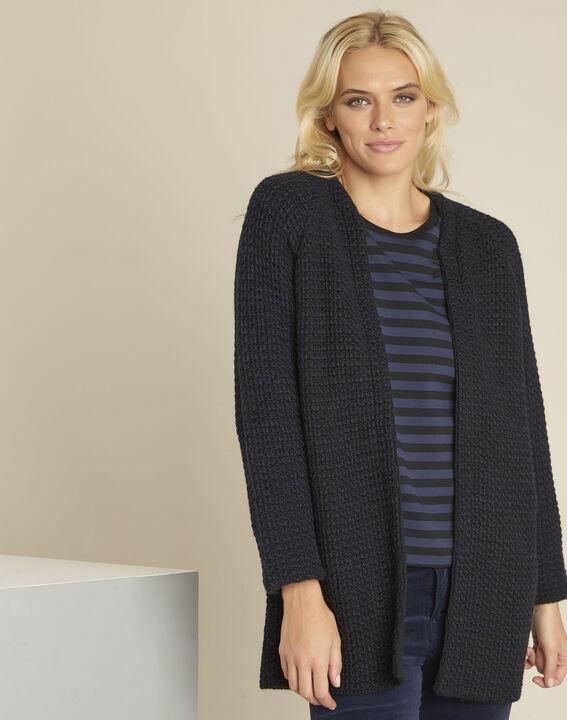 Zwart vest van gemengd wol Boby PhotoZ | 1-2-3