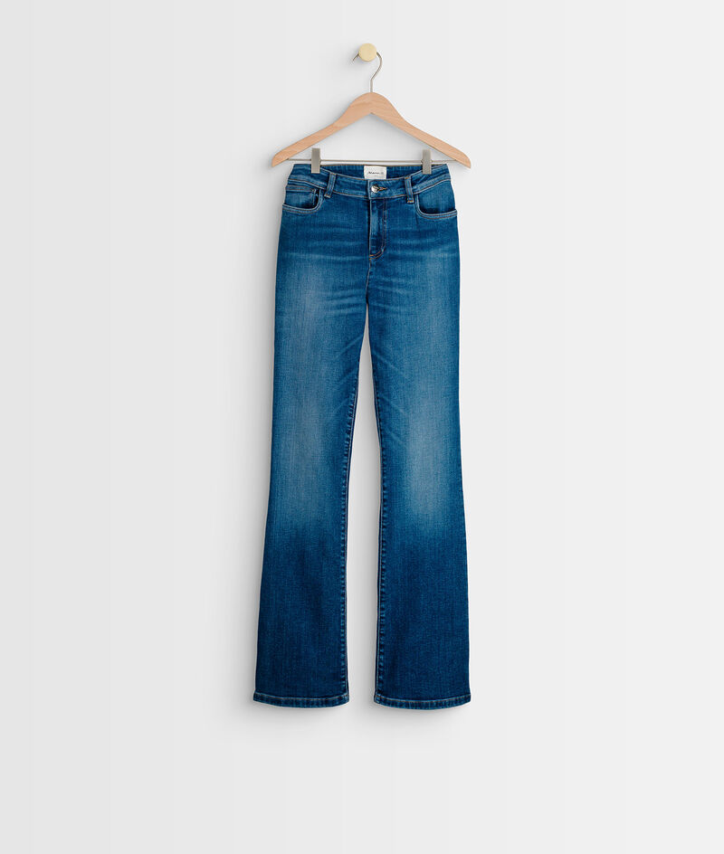 Jean vintage flare en coton bio bleu délavé Pamela PhotoZ | 1-2-3