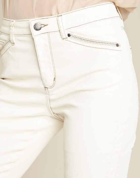Opera cream 7/8 length coated jeans (3) - 1-2-3