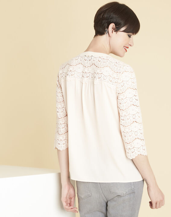 Colette nude blouse in lace (4) - Maison 123