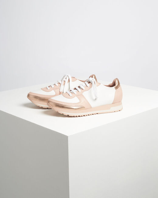 King rose gold and white leather trainers (2) - 1-2-3