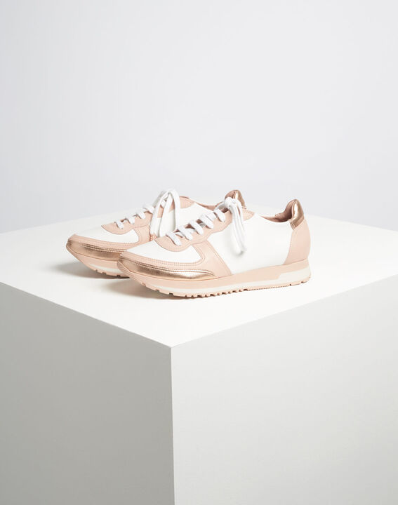 King rose gold and white leather trainers (3) - 1-2-3