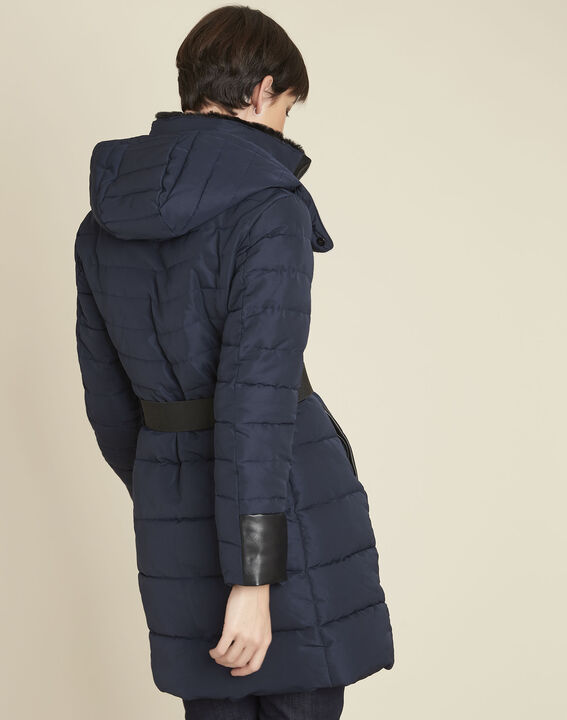 Phiby navy belted down jacket (4) - Maison 123