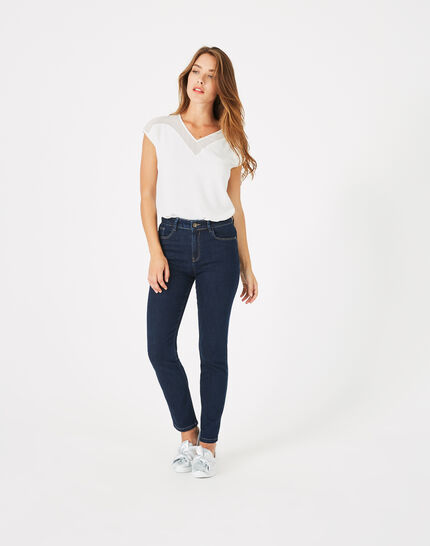 Oliver raw-cut 7/8 length jeans with studs (2) - 1-2-3
