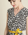 Dallas leaf-print dress with grosgrain belt (3) - 1-2-3