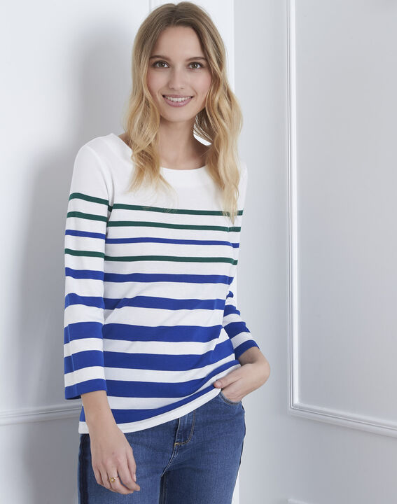 531490cb9558 Blaues, gestreiftes T-Shirt Gasayat