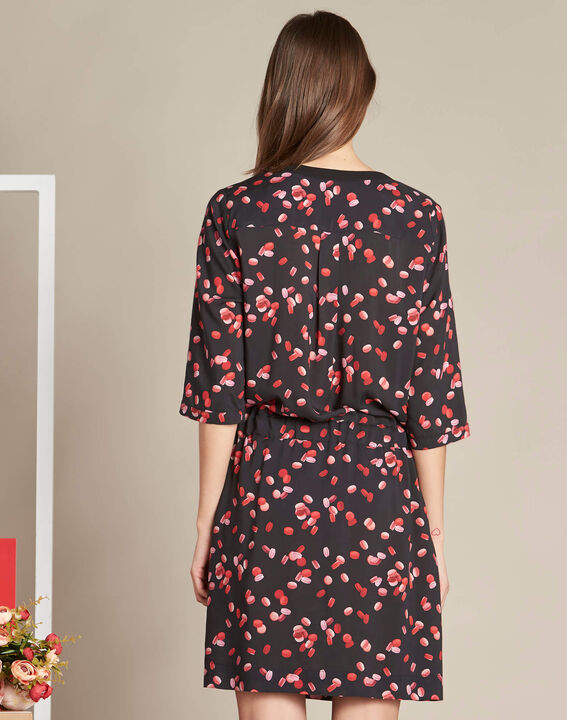 Pippa black macaron printed dress (4) - 1-2-3