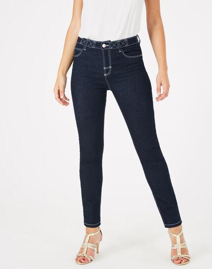 Raw Denim-Jeans mit weißen Ziernähten Oliver (3) - 1-2-3