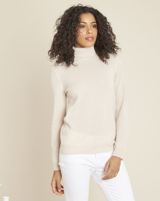 Perceneige pink polo-neck cashmere sweater (2) - 1-2-3