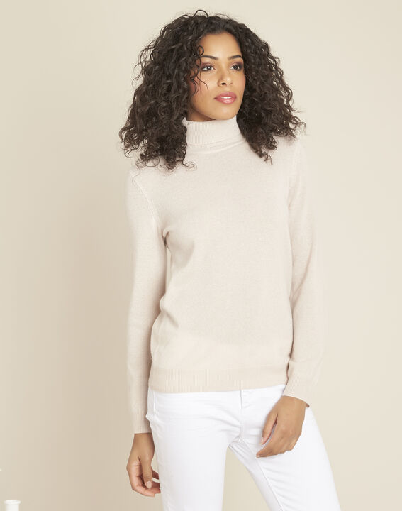 Perceneige pink polo-neck cashmere sweater (1) - 1-2-3