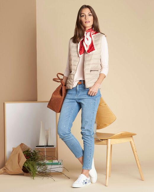 Yvana fine beige sleeveless padded coat (2) - 1-2-3