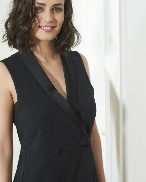 Robe tailleur noire en crêpe Dinar (2) - 1-2-3