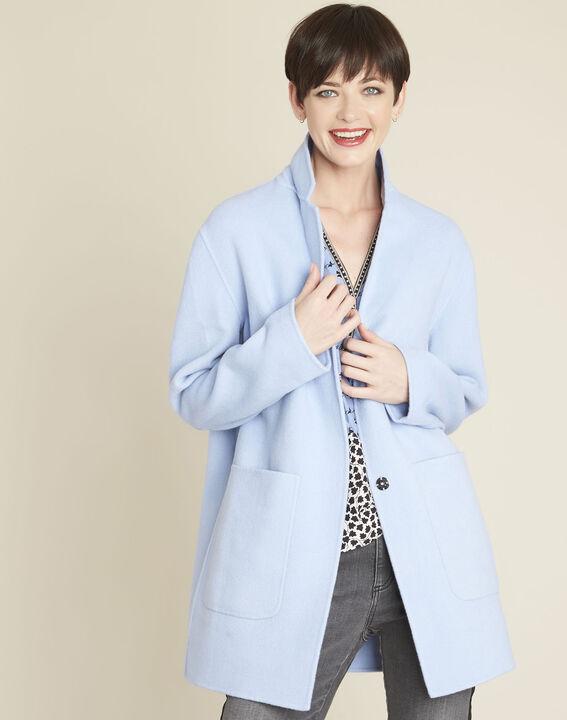 Azuurblauwe mantel Elea PhotoZ | 1-2-3