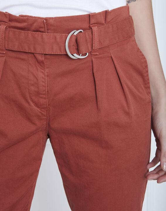 Pantalon acajou chino ceinturée Clovis (3) - Maison 123