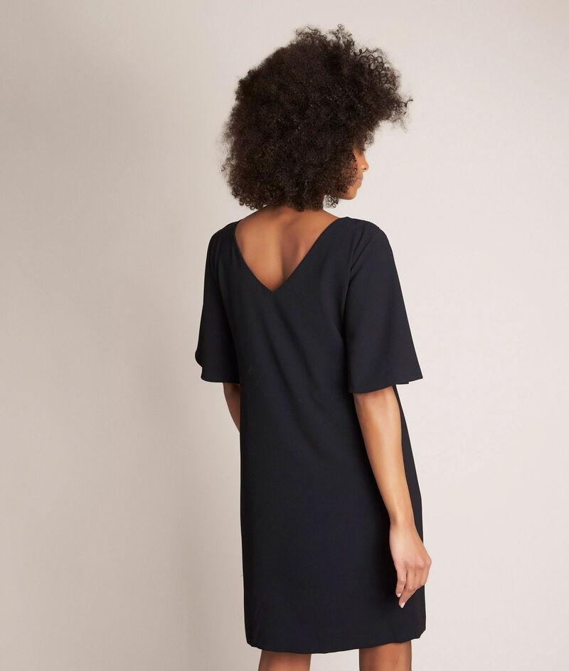 Zwarte straight-fit jurk Celia PhotoZ | 1-2-3
