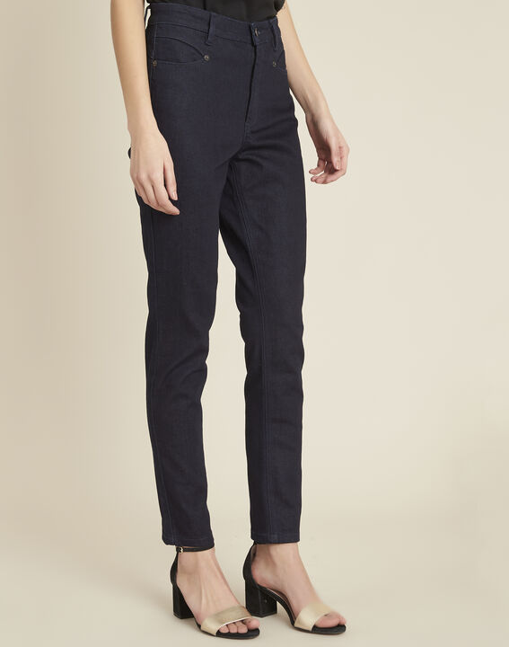 Honore raw-denim 7/8 length fitted jeans PhotoZ | 1-2-3
