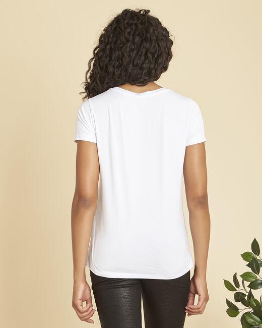 Wit T-shirt met vergulde zeefdruk Expect (1) - 37653