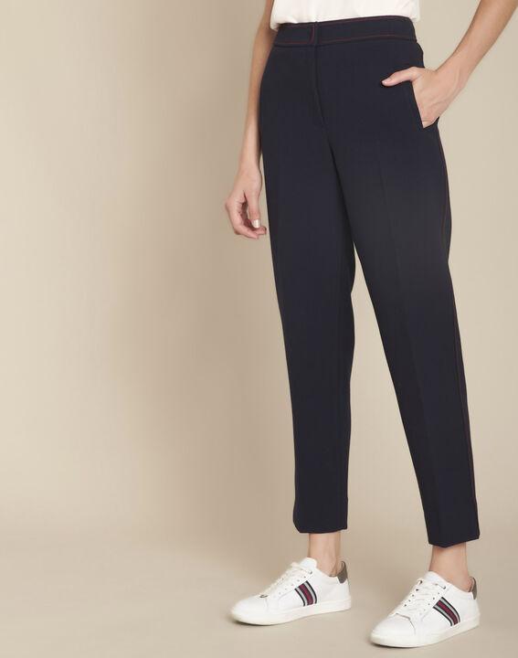 Pantalon marine compacte Ermel PhotoZ | 1-2-3
