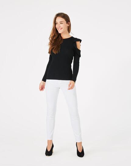 Paule black off-the-shoulder sweater (3) - 1-2-3