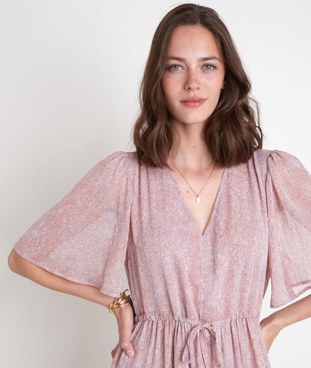 Robe longue imprimé rose Leila PhotoZ | 1-2-3