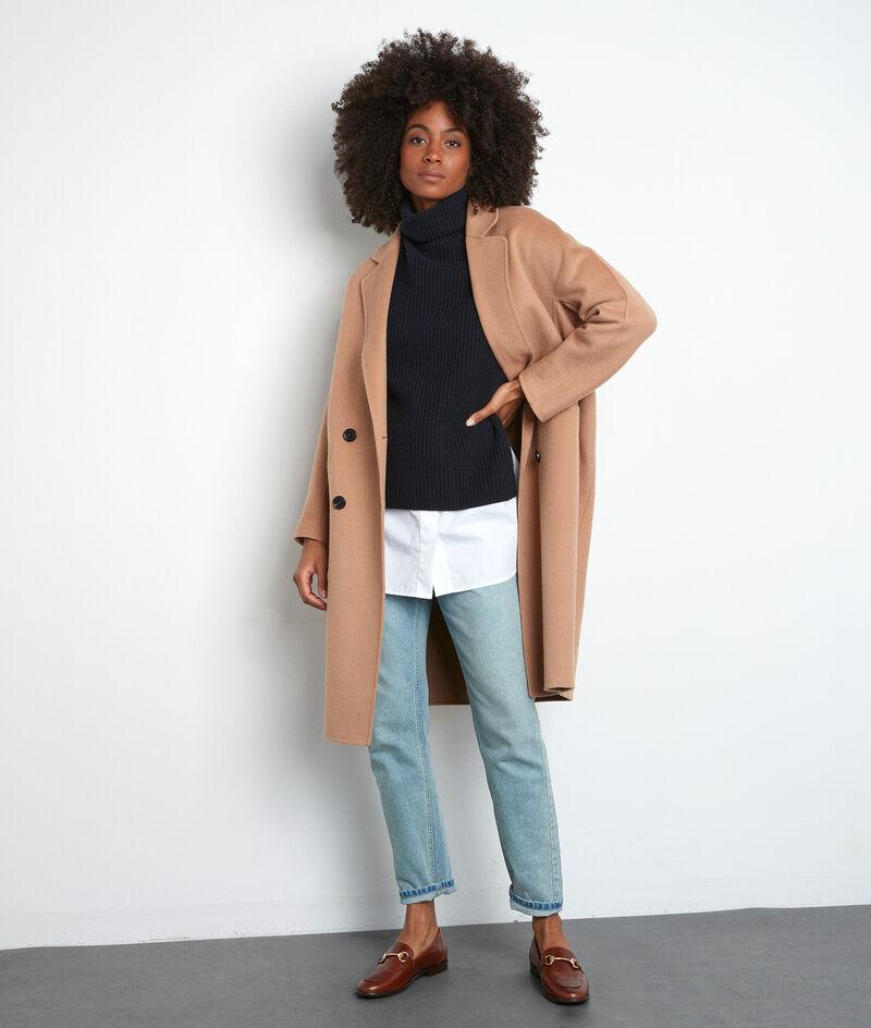Marineblauwe trui met rolkraag zonder mouwen Twister PhotoZ   1-2-3