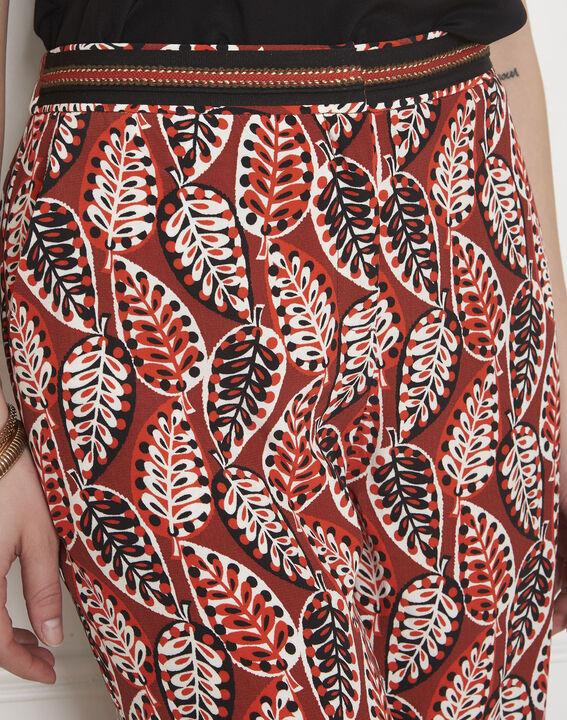 Pantalon noir imprimé feuilles Gigi (3) - Maison 123