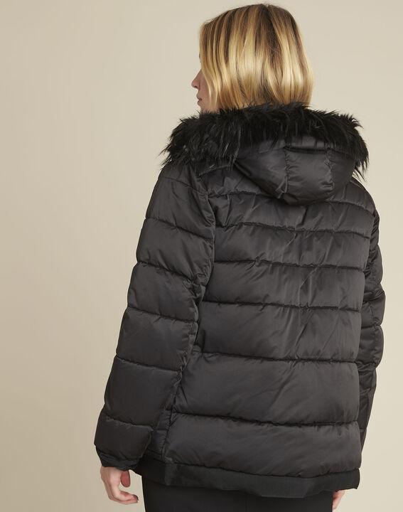Doudoune noire courte capuche Patty (4) - 1-2-3