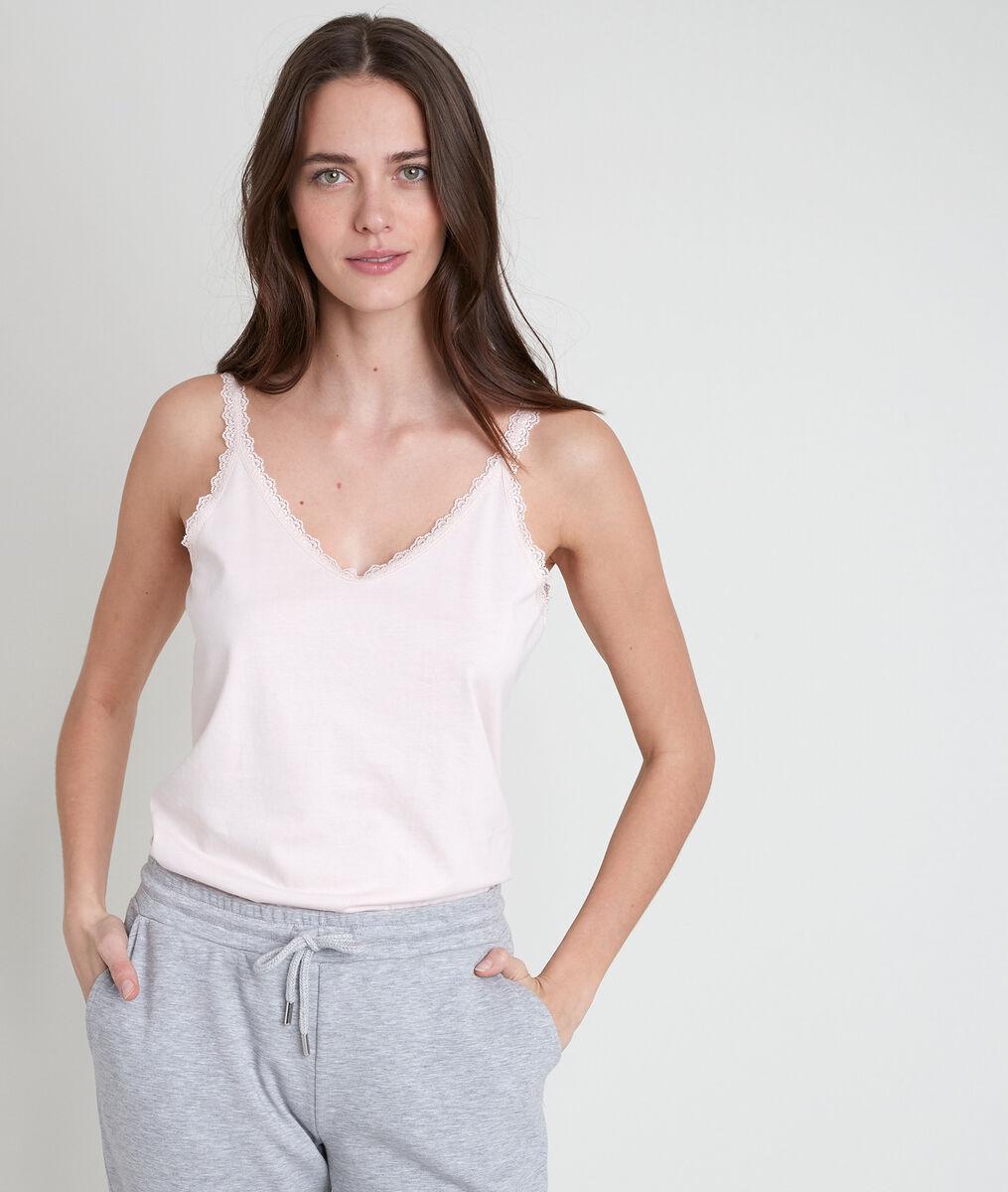 Débardeur en coton biologique poudre Rosa PhotoZ | 1-2-3