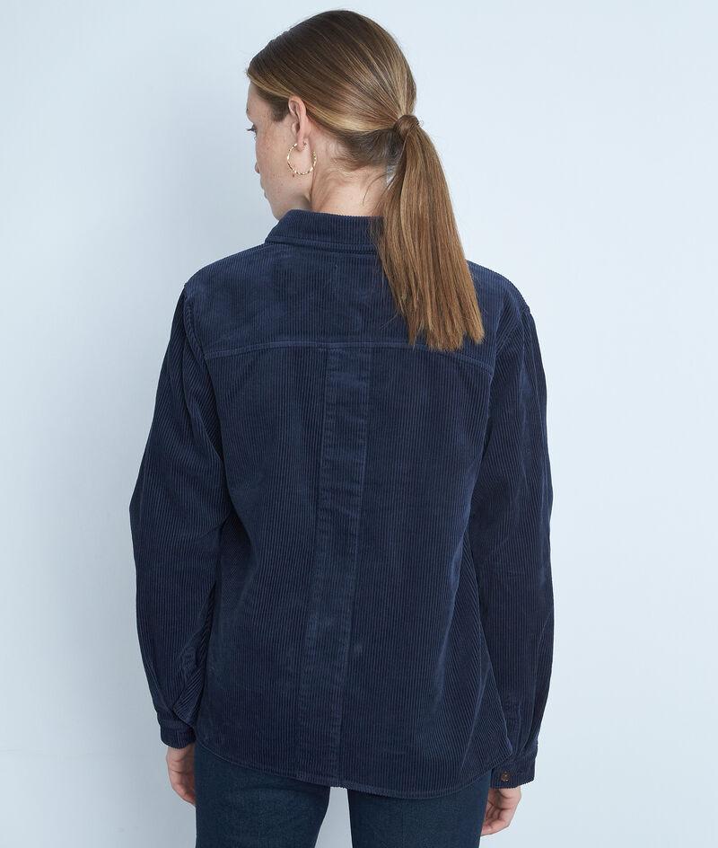 Veste de travail en velours côtelé bleu marine Romea PhotoZ | 1-2-3