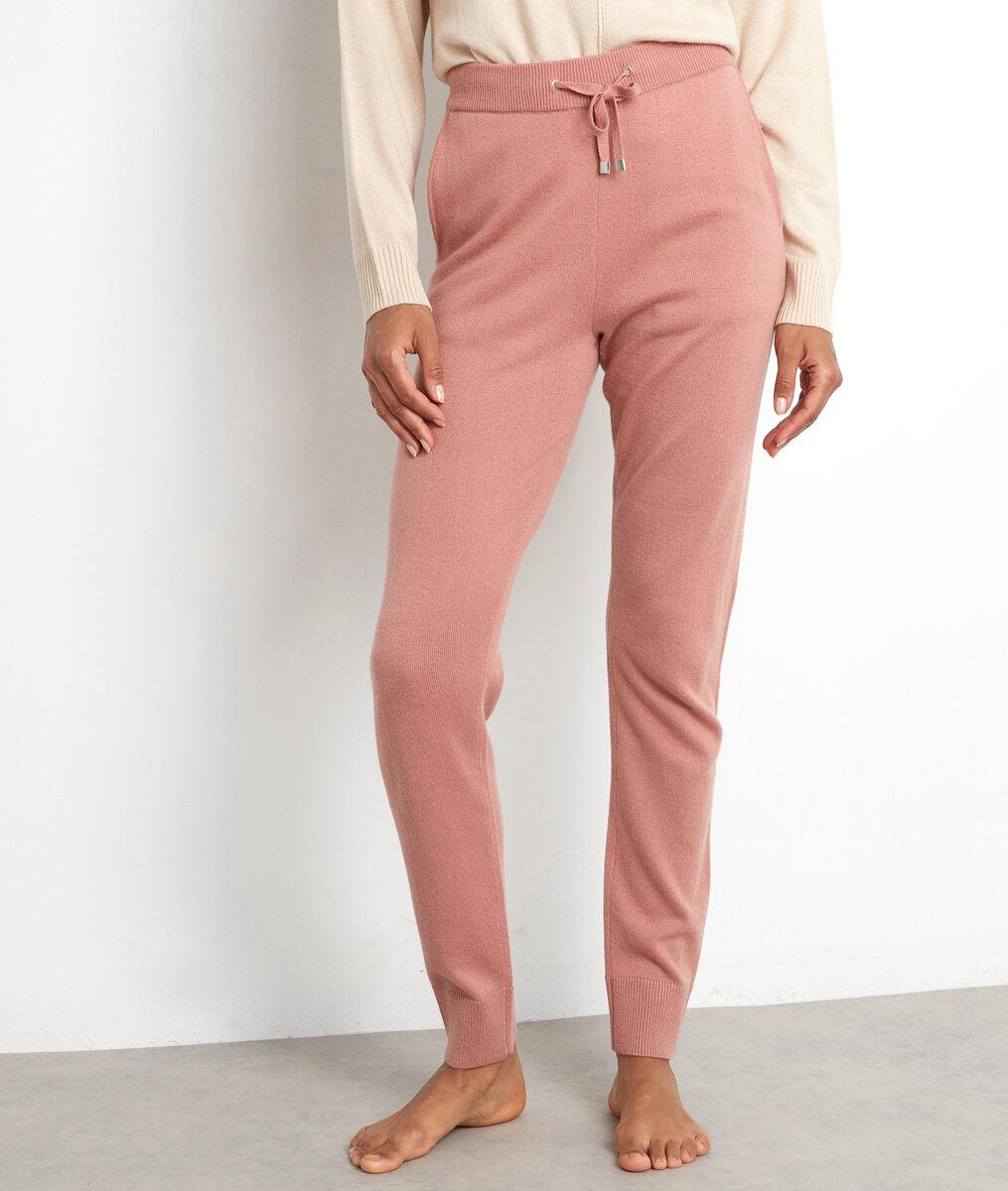 Pantalon en maille rose poudré Taylor PhotoZ | 1-2-3