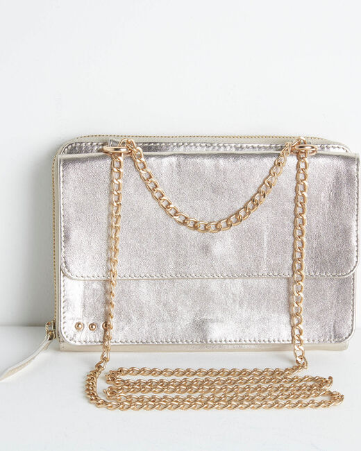 Darling grained leather bag with chain (1) - 1-2-3