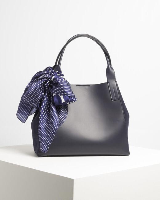 Doddy dual-fabric navy blue bag (1) - 1-2-3